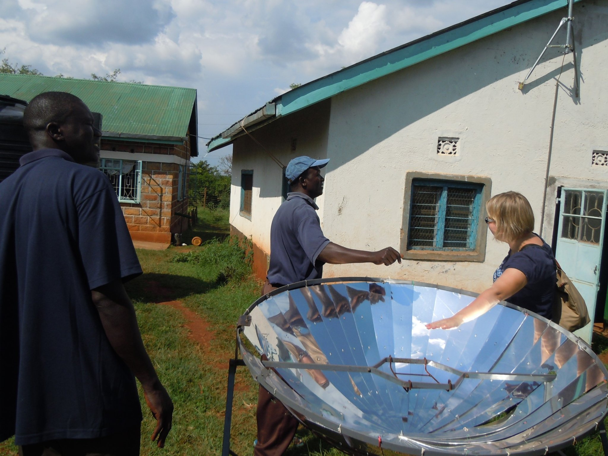 Paula meeting some local innovators who are designing affordable solutions for the local needs