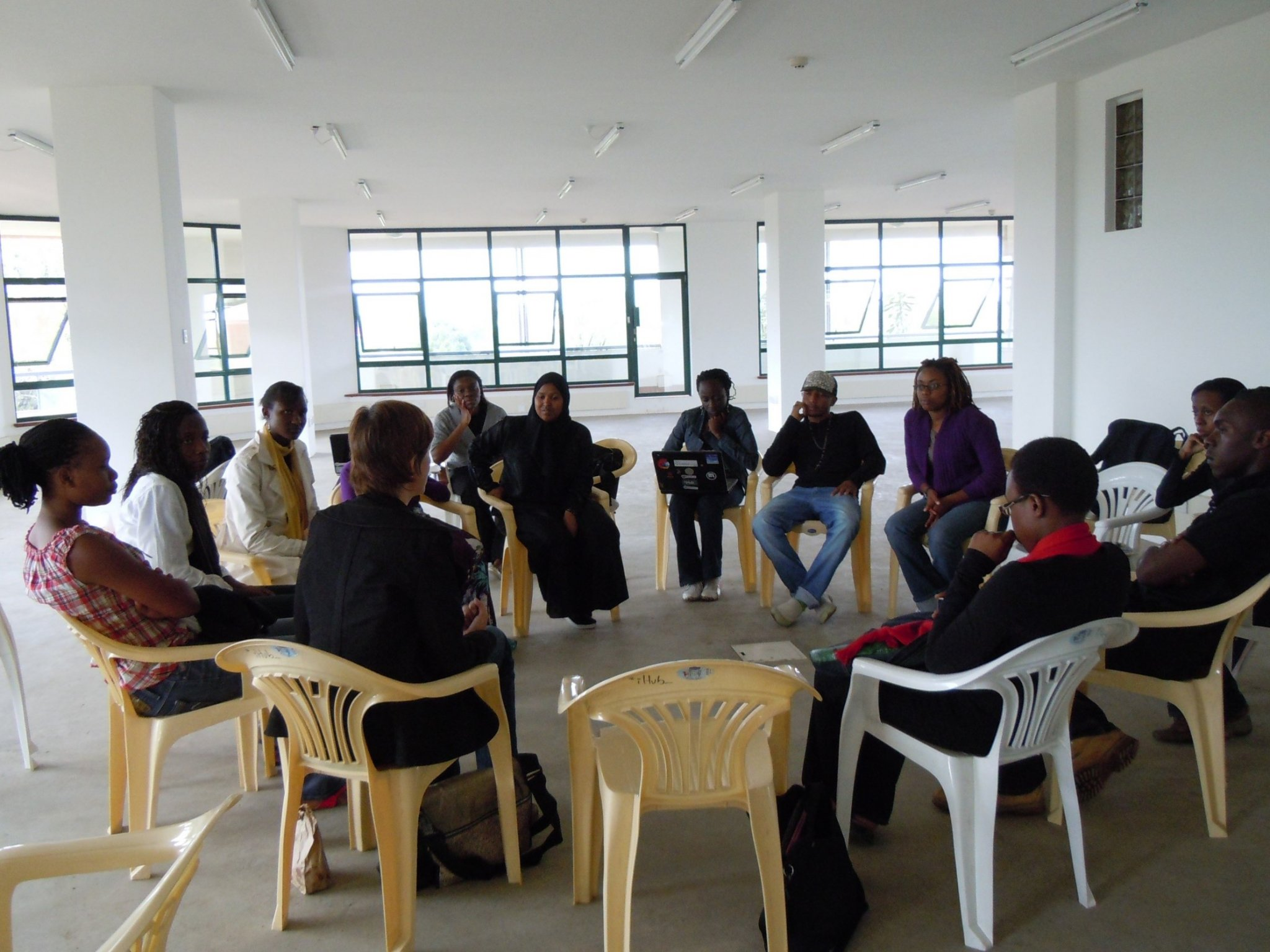 Kenyan app developers brainstorming ideas for new apps